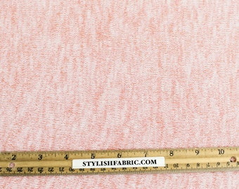 Dusty Pink Soft and Stretchy Sweater Knit Fabric by the Yard - 1 Yard Style 514