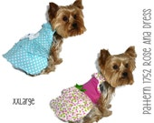 Rose Ana Dog Dress Pattern 1752 * XXLarge * Dog Clothes Sewing Pattern * Dog Clothing * Dog Attire * Dog Apparel * Pet Clothing