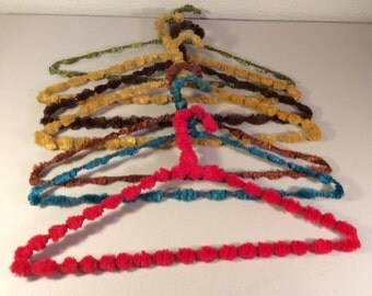 Vintage Crocheted Clothes Hangers, Covered Hangers