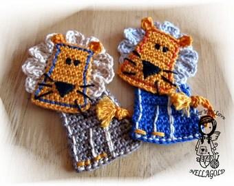 Crochet PATTERN, Applique, Patch, Application Lion, DIY Pattern 157, Instant Download