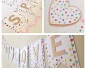 Sprinkled with Love Banner, Baby Shower Banner, Baby Sprinkle