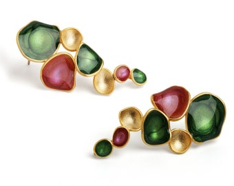 Beautiful Earrings : Colorful earring designs by oBo Creations