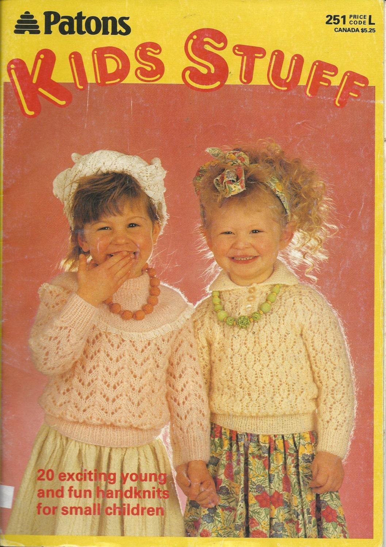 Patons Knitting Patterns Children : Knitting Patterns KIDS STUFF Patons 20 by EveryPicTellsAStory