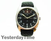 Hamilton 1973 British Broad Arrow Issue Mens Watch 17 Jewel Swiss Made Hack Movement Stainless Steel Case