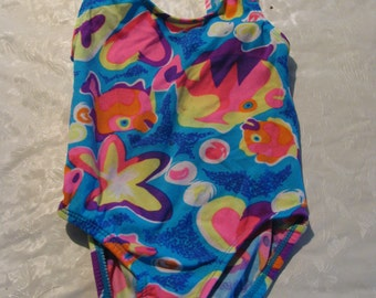 Vintage baby girl bathing suit with coverup = unique