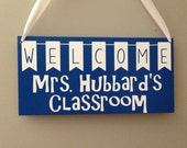 Personalized  Wood Teacher Apprection Sign Christmas Gift Classroom Custom