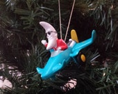 Vintage McDonald's Toy 1988 Mac Tonight Moonman Airplane - For Collectible or Christmas Ornament! & w/Free Standard US Shipping!