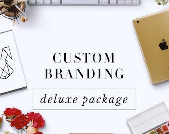 Custom Logo Design and Business Branding Package - Delux - Logo Design - Custom Marketing Set - Photography Branding Package