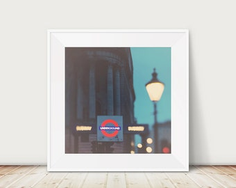 london photograph london underground photograph london print london decor night photograph tube photograph london underground print