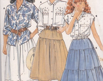 Butterick 5618 Vintage Pattern Girls Western Skirts and Blouses Size 12,14 UNCUT