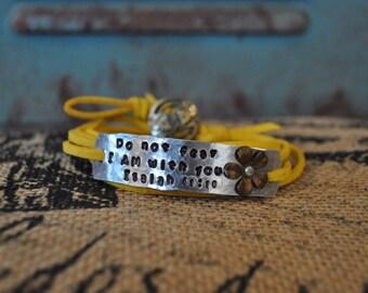 Do not fear wrap bracelet