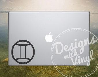 Astrology, Gemini Astrological Zodiac Sign - Laptop, Car, Graphics, Die Cut Vinyl, Decal, Window, Sticker AS5