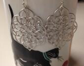 Silver Filigree Dangle Earrings