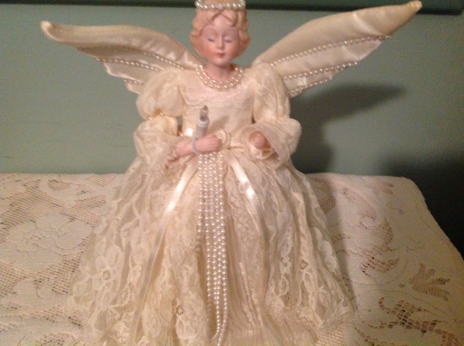 Lovely Christmas Angel Tree Topper Vintage Christmas Angel