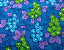 Fantastic retro flower power blue green & purple tablecloth