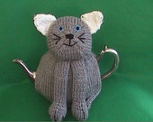 Hand Knitted  Novelty Cat  Tea Cosy
