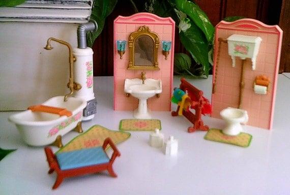 Vintage Playmobil Victorian Mansion Bathroom Set 1992 Geobra Bathroom  Powder Room Set. Vintage Playmobil Victorian Mansion Bathroom Set 1992 Geobra