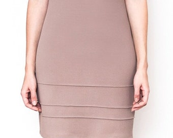 50's inspired raglan beige dress by Mosler