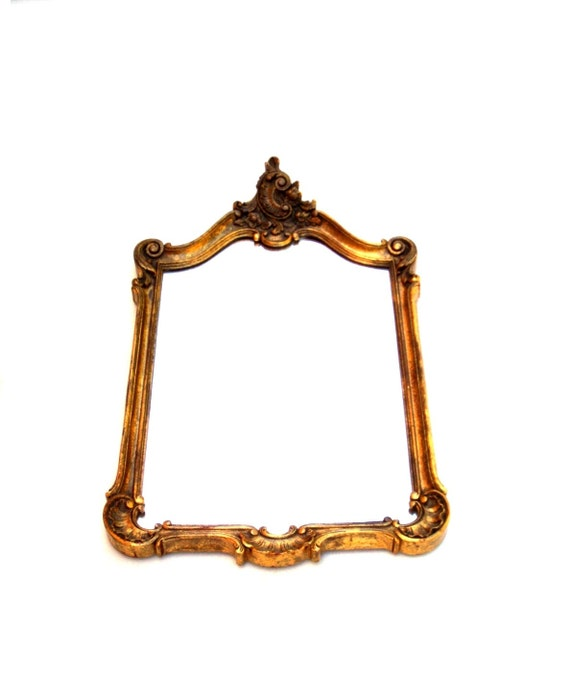Large antique gilded mirror rococo baroque style wall or for Gilded baroque mirror