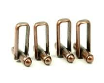 12 Pcs (6 Pairs ) Antique Copper Mens Cufflink  Backs