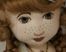 Doll Pattern 18inch Jointed Doll and Machine Embroidery Design