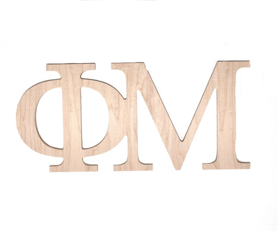 phi mu fraternity sorority paintable wooden letters by With fraternity wooden letters