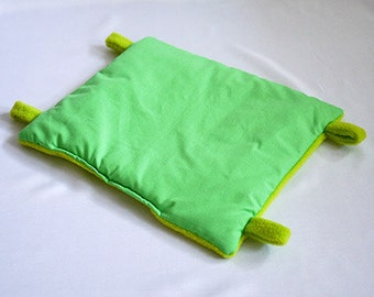 hammock for guinea pigs, ferrets or rats (green/lime green)
