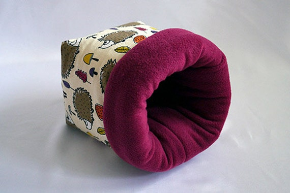 cosy sleeping bag / cuddle sack for guinea pigs, hedgehogs or sugar ...