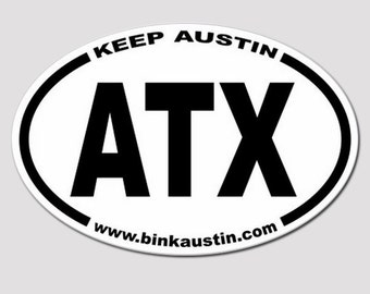 CLOSE OUT!!**ATX - Keep Austin Bumper Sticker