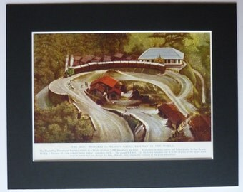 1930s Vintage Darjeeling Himalayan Railway Print Indian Steam Train art, Asian locomotive decor - Antique India Gift - Railroad Picture