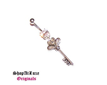 Key To My HEART Belly Navel Belly Ring