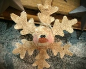Ole' Primitive  Snowman Snowflake  Winter Ornies Ornaments