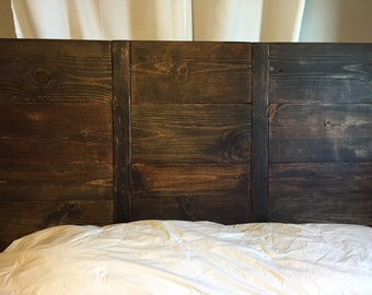 Reclaimed Wood Headboard King Etsy