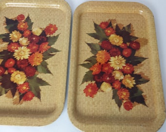 Pair of Vintage Snack Trays