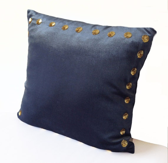 Grey Throw Pillows For Bed : Items similar to Decorative Pillow Cover -Grey Velvet Pillow Case Gold Sequin -18x18 -Sequin ...