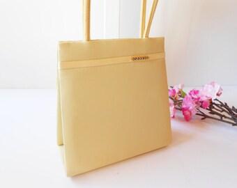 Yellow Evening Purse,Glamorous Purse, Yellow Evening Bag, Vintage Yellow Bag, Wedding Bridal Vintage Evening Bag EB-0126