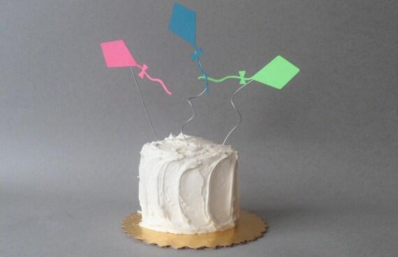 Kite cake decorations for Decoration kite
