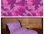 Pink Camo Pillow Bed, Nap Mat, Girl Pillow Bed, Children's Pillow Bed, Pillow Mattress, Sleepover Bed