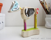 BUENOS HUESOS Good bones, skeleton cow sculpture educational puzzle for curious kids (and their parents)