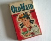 1950's Old Maid Playing Card Game --- Vintage Childhood Nostalgia --- Nostalgic Toy --- Family Game Night --- Upcycle Recycle Americana