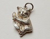 Sterling silver koala bear charm, lots of detail, marked 925