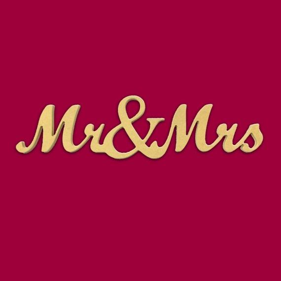31 X 8 Script Mr & Mrs Cursive Text