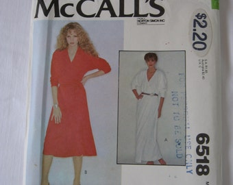 Reduced Shipping   -  McCalls 6518 Sewing Pattern