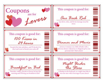 Love Coupon Book|Printable|Digital|Stocking Stuffer|Valentine's Day|Romance|Anniversary|Gift