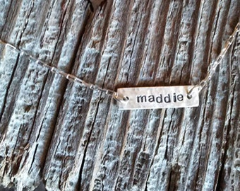 Horizontal Name Necklace