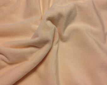 Fabric by the Yard ---- Ivory Softee Minky Fabric  ---- Solid Minky