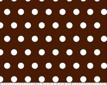 Tiny Dot --- Brown Polka Dot Fabric -----100 Percent Cotton --- Fabric By The Yard