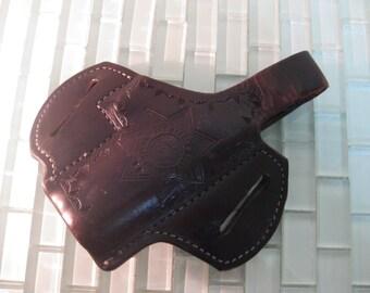 Leather Gun Holster Parole Agent Gun Pistol Holster - California State Parole Agent