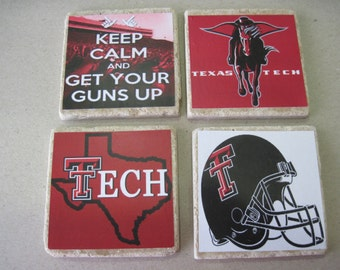 Texas Tech Coasters - Set of 4