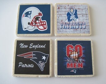 New England Patriots Coasters - Set Of 4